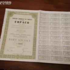 Coleccionismo Acciones Extranjeras: ACCIONES DE COPACO COMPAGNIE COMMERICALE DES PANNEAUX. Lote 270377048