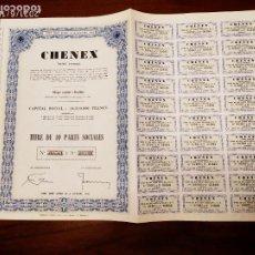 Coleccionismo Acciones Extranjeras: ACCIONES DE CHENEX. Lote 270379063