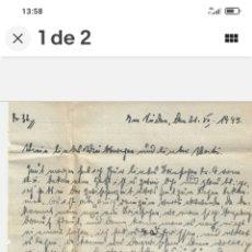 Coleccionismo Acciones Extranjeras: CARTA ORIGINAL ANUNCIADO FALLECIMIENTO. Lote 279406168