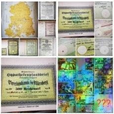 Collectionnisme Actions Internationales: ⚜️ A2243. PREMIUM! ACCIONES WEIMAR + NAZI + FACSÍMIL MAPA RDA + SORPRESA! SUBASTA TODO ALEMANIA. Lote 286644578