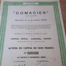 Coleccionismo Acciones Extranjeras: ACCION COMACIER 1944. Lote 289678473