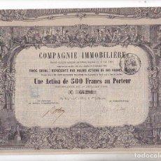 Coleccionismo Acciones Extranjeras: ACCION COMPAGNIE INMOBILIERE 1864. Lote 290061878