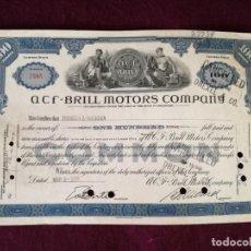 Colecionismo Ações Internacionais: ANTIGUA ACCIÓN, ACF - BRILL MOTORS COMPANY, NEW YORK, 1946. Lote 293279198