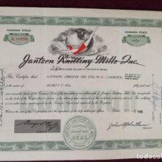 Colecionismo Ações Internacionais: ANTIGUA ACCIÓN, JANTSEN, NEVADA, USA, 1953. Lote 293280188