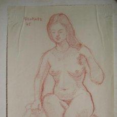 Arte: COLOR SOBRE PAPEL - FIRMADO - FLOTATS 75 (FLOTATS NACIDO EN BARCELONA AÑO 1917). Lote 19061568