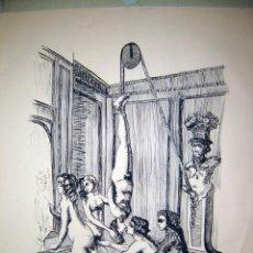 Arte: BELLA REALIZACION A TINTA CHINA EROTICA. Lote 27755208