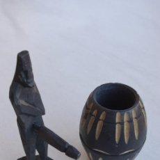 Arte: FIGURA DE MADERA ERÓTICA AFRICANA.. Lote 33716491