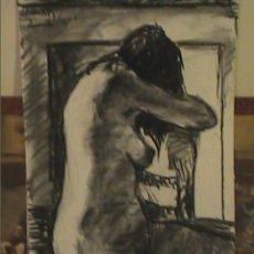 Arte: MAGNIFICO Y ORIGINAL DIBUJO FEMENINO AL CARBÓN. MARK DEBROUX. 2008.. Lote 33956138