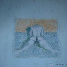 Arte: DIBUJO A COLOR - ANÓNIMO - PERSPECTIVA ERÓTICA. Lote 39953732