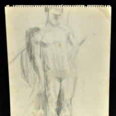 Arte: ANONIMO. DIBUJO A CARBON. DESNUDO. Lote 52995663