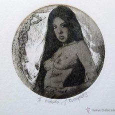 Arte: GRABADO AGUAFUERTE FIRMADO JENS RUSCH. Lote 53484247