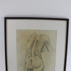 Arte: C- 200. DIBUJO AL CARBON,DESNUDO FIRMADO PS. 1971.. Lote 53807090