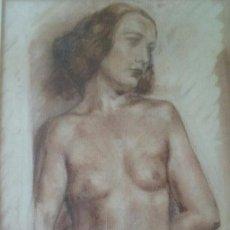 Arte: DESNUDO MUJER, SANGINA, FIRMADDO P. BORRELL, 23X43CM SIN ENMARCAR, AÑOS 30-40. Lote 56008099