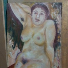Arte: PINTURA AL OLEO FIGURA FEMENINA. Lote 67670674