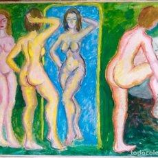 Arte: DESNUDO. OLEO SOBRE CARTULINA.. . ENVIO CERTIFICADO INCLUIDO.EN EL PRECIO.. Lote 75800623