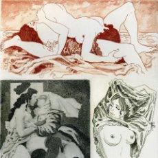 Arte: PERELLÓN, CELEDONIO. GRABADO ORIGINAL ERÓTICO. GAMIANI. Lote 84587292
