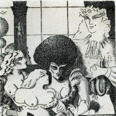 Arte: RAMÍREZ, RAMÓN. JUEGOS ERÓTICOS. AGUAFUERTE PARA EMILIA DE EL MARQUÉS DE SADE. Lote 84681260