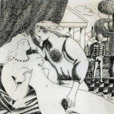 Arte: RAMÍREZ, RAMÓN. JUEGOS ERÓTICOS. AGUAFUERTE PARA EMILIA DE EL MARQUÉS DE SADE. Lote 84681404