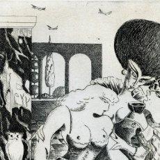 Arte: RAMÍREZ, RAMÓN. JUEGOS ERÓTICOS. AGUAFUERTE PARA EMILIA DE EL MARQUÉS DE SADE. Lote 84681592