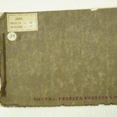 Arte: CATÁLOGO SIÉGES ET MEUBLES MODERNES M.H. 32X24,5CM. Lote 107964559