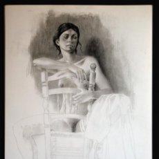 Arte: PERELLÓN, CELEDONIO. LITOGRAFIA DE LA SERIE ELLAS. AÑOS 90 . NUMERADA Y FIRMADA. Lote 137992934