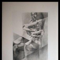 Arte: PERELLÓN, CELEDONIO. LITOGRAFIA DE LA SERIE GÉMINIS. AÑOS 90 . NUMERADA Y FIRMADA. Lote 138052734