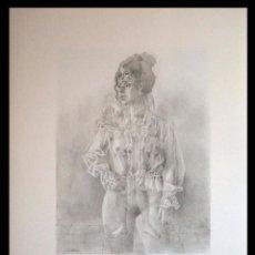Arte: PERELLÓN, CELEDONIO. LITOGRAFIA DE LA SERIE GÉMINIS. AÑOS 90 . NUMERADA Y FIRMADA. Lote 138053002