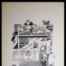 Arte: PERELLÓN, CELEDONIO. LITOGRAFÍA DE LA SERIE MUNDO, DEMONIO Y CARNE. FINALES AÑOS 70 . FIRMADA. Lote 138056866