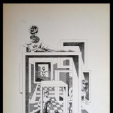 Arte: PERELLÓN, CELEDONIO. LITOGRAFÍA DE LA SERIE MUNDO, DEMONIO Y CARNE. FINALES AÑOS 70 . FIRMADA. Lote 138056950