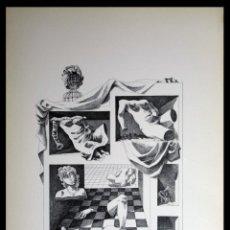 Arte: PERELLÓN, CELEDONIO. LITOGRAFÍA DE LA SERIE MUNDO, DEMONIO Y CARNE. FINALES AÑOS 70 . FIRMADA. Lote 138057094