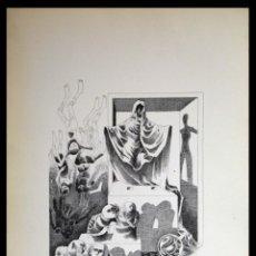 Arte: PERELLÓN, CELEDONIO. LITOGRAFÍA DE LA SERIE MUNDO, DEMONIO Y CARNE. FINALES AÑOS 70 . FIRMADA. Lote 138057146