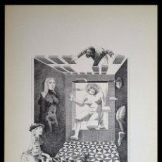Arte: PERELLÓN, CELEDONIO. LITOGRAFÍA DE LA SERIE MUNDO, DEMONIO Y CARNE. FINALES AÑOS 70 . FIRMADA. Lote 138057602