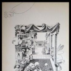 Arte: PERELLÓN, CELEDONIO. LITOGRAFÍA DE LA SERIE MUNDO, DEMONIO Y CARNE. FINALES AÑOS 70 . FIRMADA. Lote 138057658