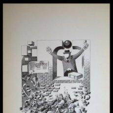 Arte: PERELLÓN, CELEDONIO. LITOGRAFÍA DE LA SERIE MUNDO, DEMONIO Y CARNE. FINALES AÑOS 70 . FIRMADA. Lote 138057726