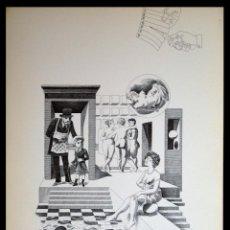 Arte: PERELLÓN, CELEDONIO. LITOGRAFÍA DE LA SERIE MUNDO, DEMONIO Y CARNE. FINALES AÑOS 70 . FIRMADA. Lote 138057850