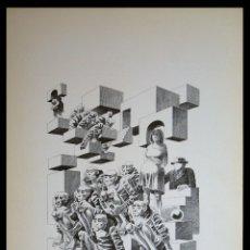 Arte: PERELLÓN, CELEDONIO. LITOGRAFÍA DE LA SERIE MUNDO, DEMONIO Y CARNE. FINALES AÑOS 70 . FIRMADA. Lote 138057922