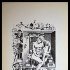 Arte: PERELLÓN, CELEDONIO. LITOGRAFÍA DE LA SERIE MUNDO, DEMONIO Y CARNE. FINALES AÑOS 70 . FIRMADA. Lote 138057970