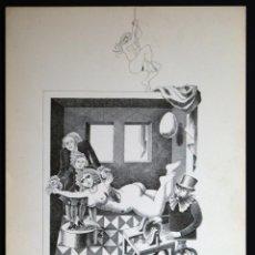 Arte: PERELLÓN, CELEDONIO. LITOGRAFÍA DE LA SERIE MUNDO, DEMONIO Y CARNE. FINALES AÑOS 70 . FIRMADA. Lote 138058150