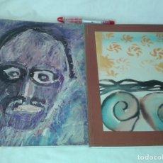 Arte: 2 CATALOGOS DE SALVADOR RIERA GALERIA D´ART, FRANCESCO CLEMENTE, DE SUCRE. Lote 153493570