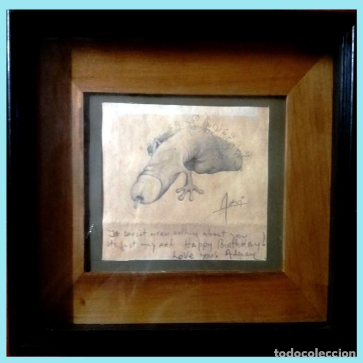 Arte: DIBUJO EROTICO. UN PENE A LAPIZ EN PAPEL,DEDICADO DE ADRIANA EN INGLES Y FIRMADO ADRI. 14 x 12 cm. - Foto 2 - 171440164