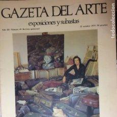 Arte: GAZETA DEL ARTE , EXPOSICIONES Y SUBASTAS Nº 49 15-10-1975 CRISTOBAL TORAL , EL AFAN DE CREAR . Lote 175032485