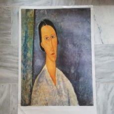 Arte: LAMINA AMEDEO MODIGLIANI 1983 PAPEL 98X58.CM . Lote 178821622