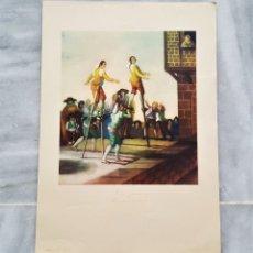 Arte: FRANCISCO DE GOYA - LOS ZANCOS - ANTIGUA LAMINA PAPEL 24X34.CM APROX. Lote 178821925