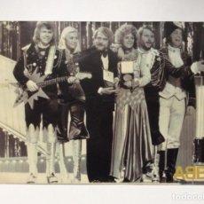 Arte: ENVÍO 6€. FOTOGRAFÍA OFICIAL DE ABBA CON MOTIVO DEL LANZAMIENTO DE ABBA GOLD MIDE 29X21CM. Lote 191471193