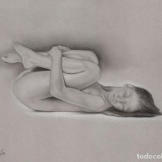 Arte: DIBUJO ERÓTICO - PASTEL SOBRE PAPEL CANSON ''MI-TEINTES''. Lote 194661500