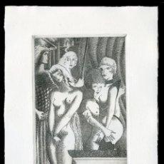 Arte: RAMÓN RAMÍREZ. JUEGOS ERÓTICOS. AGUAFUERTE PARA EMILIA DE EL MARQUÉS DE SADE. Lote 205701285