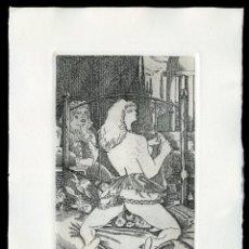 Arte: RAMÓN RAMÍREZ. JUEGOS ERÓTICOS. AGUAFUERTE PARA EMILIA DE EL MARQUÉS DE SADE. Lote 205701408