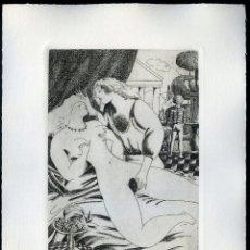 Arte: RAMÓN RAMÍREZ. JUEGOS ERÓTICOS. AGUAFUERTE PARA EMILIA DE EL MARQUÉS DE SADE. Lote 205701491