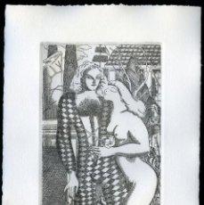 Arte: RAMÓN RAMÍREZ. JUEGOS ERÓTICOS. AGUAFUERTE PARA EMILIA DE EL MARQUÉS DE SADE. Lote 205701568