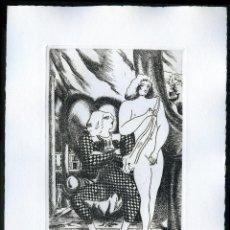Arte: RAMÓN RAMÍREZ. JUEGOS ERÓTICOS. AGUAFUERTE PARA EMILIA DE EL MARQUÉS DE SADE. Lote 205702373